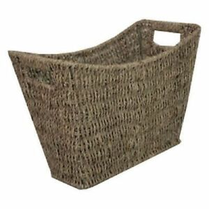 SEAGRASS-MAGAZINE-RACK-HOLDER-STYLISH-CURVED-NEWSPAPER-BASKET-INSET-HANDLES