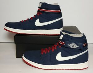 6aed9736e7a2 AIR JORDAN 1 HIGH STRAP MEN S SIZE 13.5 NEW BOX COLOR MIDNIGHT NAVY ...