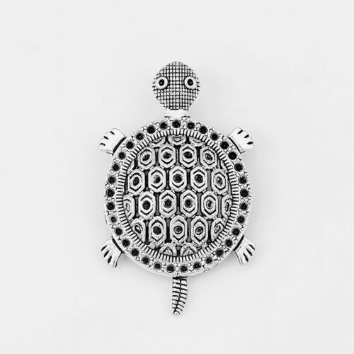 5pcs Antique Silver Cute Sea Turtle Charms Pendant Jewelry Findings