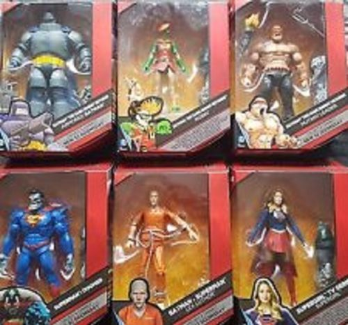 Dc multiversum - mutanten - leader batman superman robin supergirl - figur