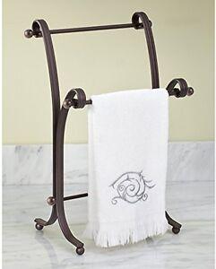 Tiny Hand Towel Rack Bathroom Holder Stand Hand Towels Metal