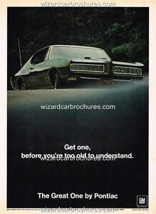 1968 PONTIAC GTO A3 POSTER AD ADVERT ADVERTISEMENT SALES BROCHURE MINT