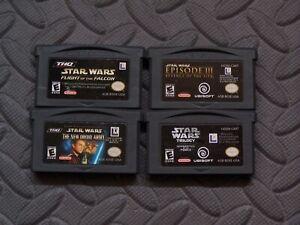 Lot-Nintendo-Game-Boy-Advance-GBA-Games-Star-Wars-4-games