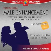 Male Enhancement - Sexual Health - Natural Formula - 2 Pack 60 Patches