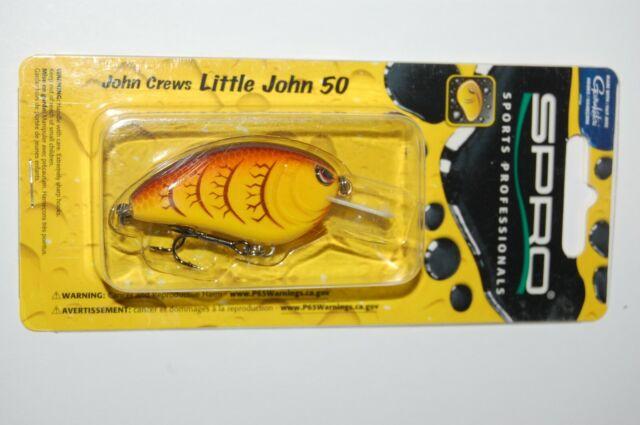 "Spro Little John 50 Crankbaits 2 1//2/""  Balsawood Crankbait Bass Fishing Lure"