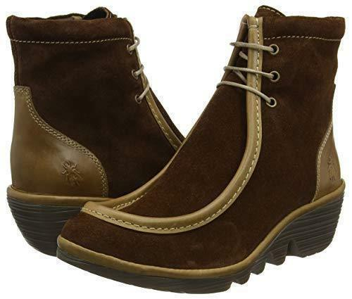 NEW  Taille 3 Fly London Pail763fly camel marron suede   leather ankle bottes; EU 36
