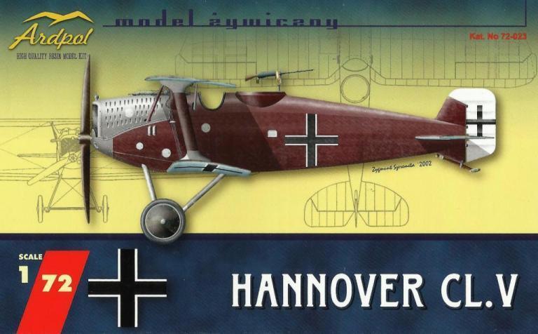HANNOVER CL.V (KAISERLICHE LUFTWAFFE MARKIERUNG) 1 72 ARDPOL RESIN RARITAT