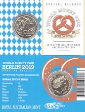 RARE 2019 $1 Berlin World Money Fair Mob of Roos Pretzel Privymark Al-Br UNC