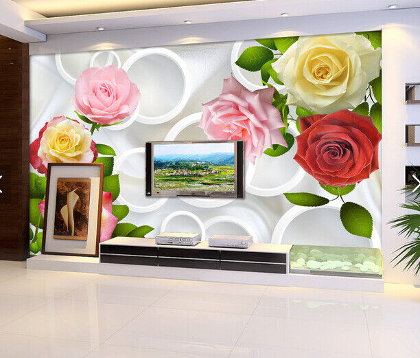 3D Adorn  Flower 559 Wallpaper Murals Wall Print Wallpaper Mural AJ WALL AU Kyra