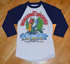RaRe *1981 THE ROLLING STONES* vtg concert tour jersey shirt (S) 80's 3/4 Raglan