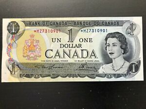 1973-Canada-One-Dollar-Canadian-Bank-Note-Lawson-amp-Bouey-Replacement-MZ-series
