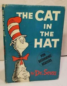 Dr-Seuss-THE-CAT-IN-THE-HAT-1957-1st-ED-3rd-Issue-w-DJ-Suess-RARE-HIGHSPOT