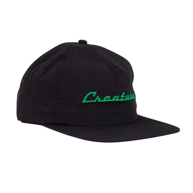 Black Creature Skateboards Batty Adjustable Snapback Hat 44441764