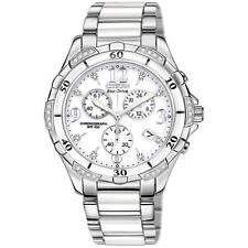 New Citizen Eco-Drive Diamond Stainless & White Ceramic Women's Watch FB1230-50A