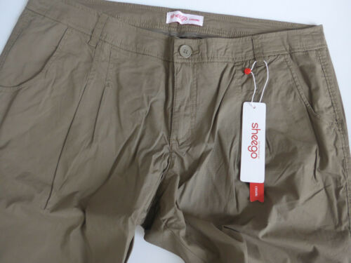 42 bis 58 Kurz Normal Khaki Ton 903 Sheego Hose Damen Stoffhose Chino Gr