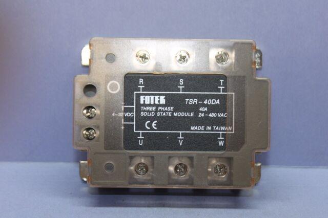 40DA TSR-40DA-H Three-phase input 4-32VDC load 90-480VAC solid solid state relay