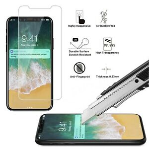 Anti Scratch 9H TEMPERED GLASS Full Cover Screen Protector For All iPhone Models
