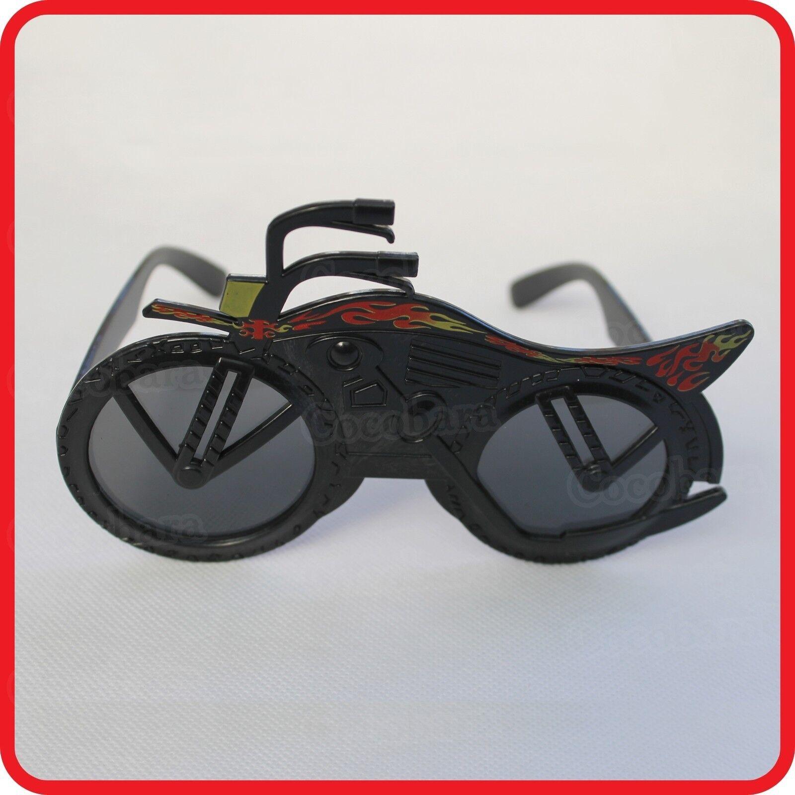 MOTORCYCLES MOTORBIKE MOTOR VEHICLE GLASSES SUNGLASSES-COSTUME-DRESS UP-PARTY