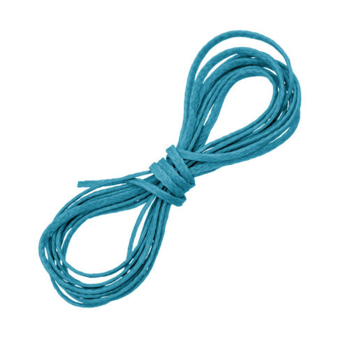 D57//1 1mm Turquoise Blue Waxed Polyester Jewellery Cord Thread 1 Metre Length