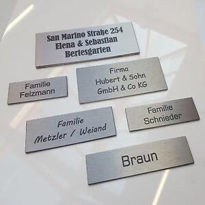 Edelstahl-Briefkastenschild-Tuerschild-Klingelschild-inkl-Gravur-6-GROssEN