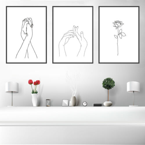 Crossover Hands Canvas Art Painting Poster Print Wall Picture Home Decor Gift