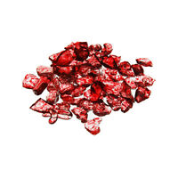 Glass Sand Vase Fillers - Crushed Ruby (12 Bags) - Glass Pebbles, Crystal Sand