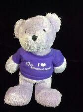 "Carnival Cruise Spirit Purple Bear Plush Soft Toy 10"" I Love T-shirt Souvenir"