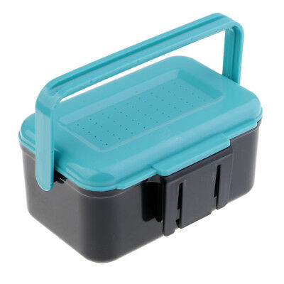 Earthworm Worm Bait Lure Fishing Tackle Box with Clip Fishing Accessories G