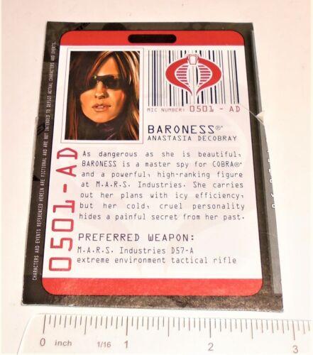 G I JOE File Card Filecard      Rise of Cobra    2009  Baroness V13