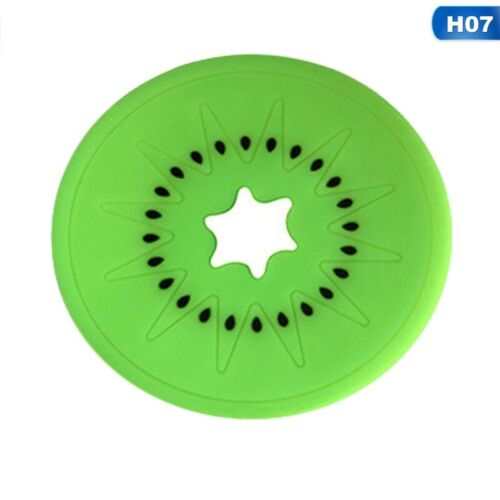 2Pcs Fruit Coaster Set Colorful Silicone Cup Coffe Holder Mat Tableware Pl#bar