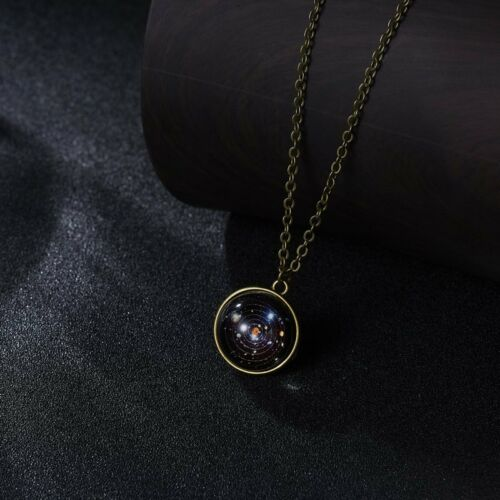 Retro Galaxy Necklace Nebula Jewelry Stars And Universe Space Pendant Necklace