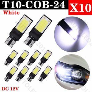10x-T10-CAR-BULBS-LED-ERROR-FREE-CANBUS-24-SMD-COB