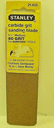 "Stanley Rasp Surform Sanding Blade 21-433 Carbide 5 1//2 /"" Medium # 80 Grit USA"