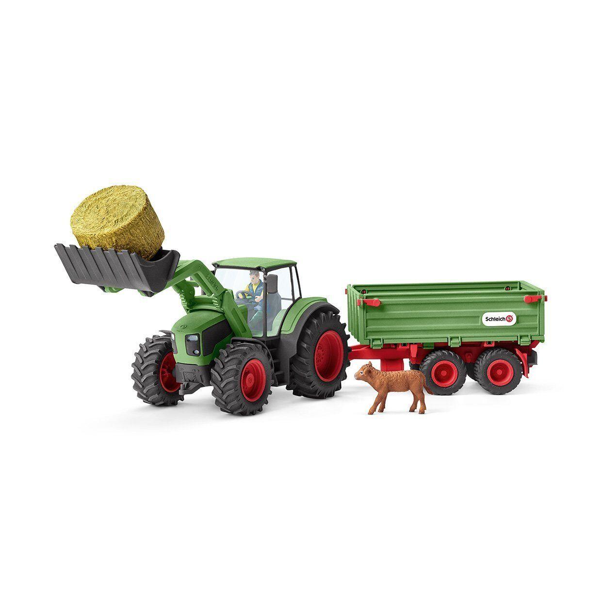 Schleich Bauernhof Traktor mit 42379 Anhänger 42379 mit Schlepper NEU ce20bf