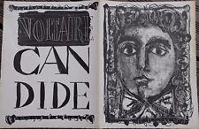 Antoni CLAVE Candide de Voltaire - Lithographie litografia lithograph 1946 1948.