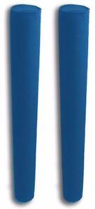 """48/"""" x 2 3//8/"""" Trailer Guide Boat Pads PVC Post Covers HEAVY DUTY Capped = NAVY"""