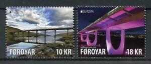 Feroe-iles-Feroe-2018-neuf-sans-charniere-ponts-EUROPA-PONT-2-V-Set-Architecture-timbres