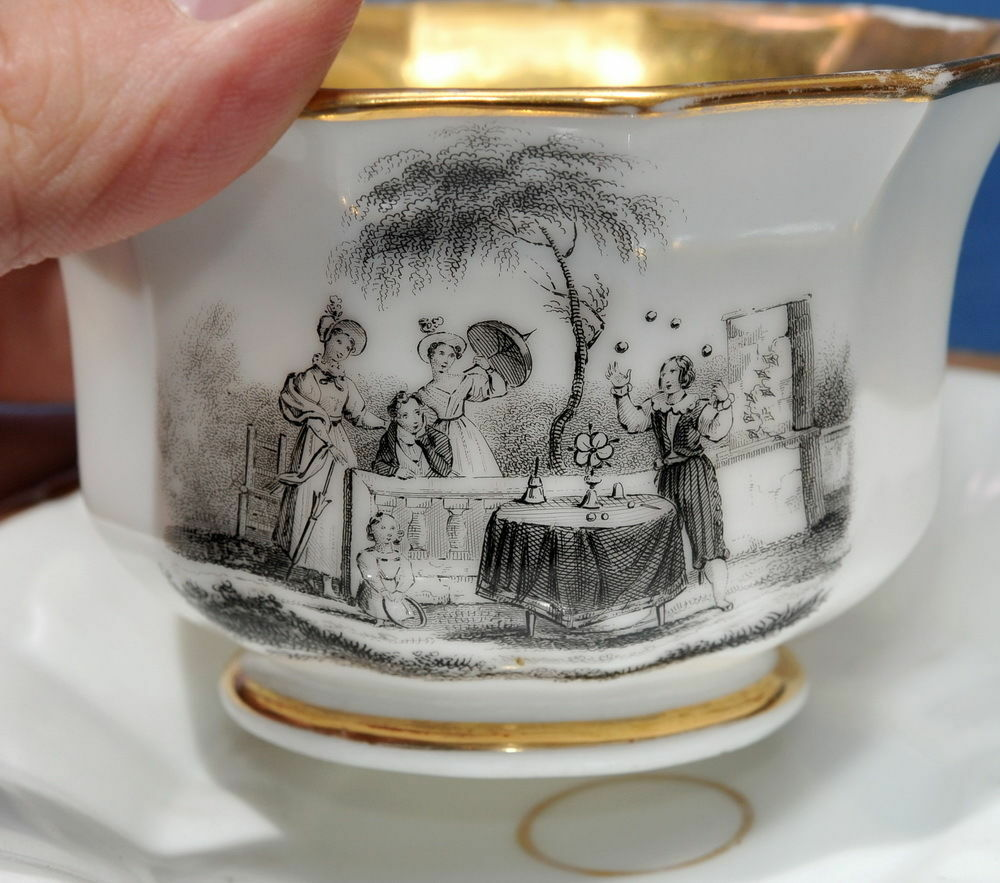 Porcelana de Paris mago vaso 1820   MAGO magia vaso