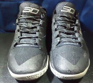 53d9a7dd869 Under Armour UA Curry 2 Low Basketball Shoes Black Grey Size 7.5 ...