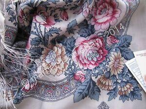 1453-1-Laine-echarpe-vierge-naturel-authentique-Pavlovo-Posad-Chale-Russe-Style