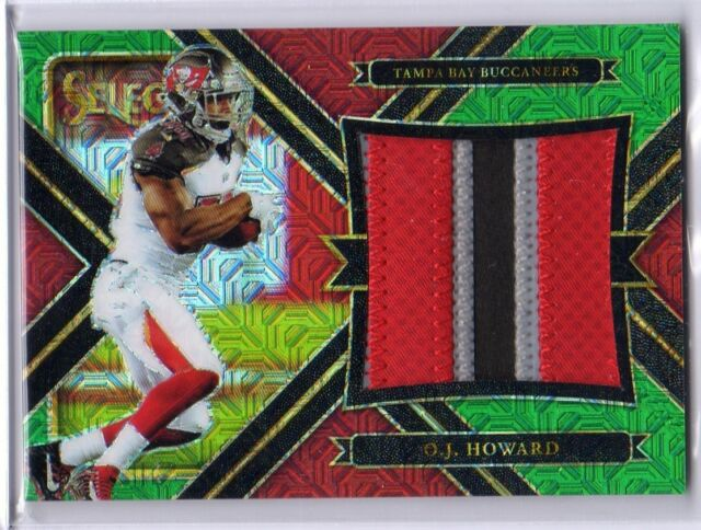 2017 Select OJ Howard Green Rookie 3 Color Jumbo Jersey /5 Buccaneers O.J.