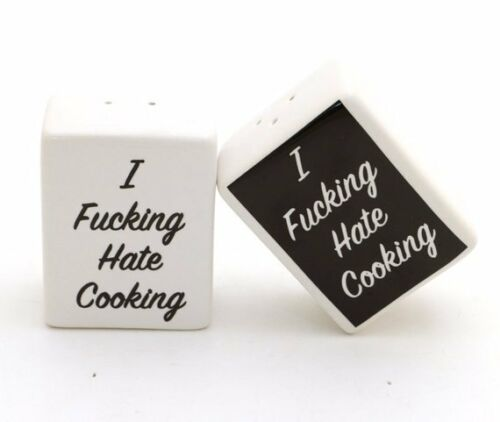 Mature Salt and Pepper Shakers I F/'n Hate Cooking