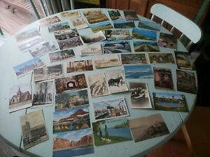 Lot-of-50-Vintage-Tourist-Picture-and-Post-Card-039-s-Chrome-Linen-USA-Used-Unused