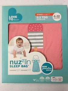 2-PACK-Love-To-Dream-Nuzzlin-Cotton-Sleep-Bag-Extra-Light-Pink-4-12-Months