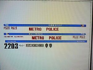 Details about Hills Street Blues Television Show Police Car Decals 1:24