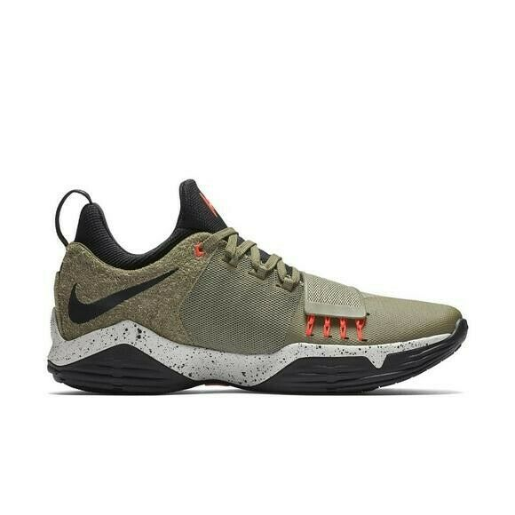 new product 5d8af 0f02b Nike Pg1 Elements Paul George Bball Shoes Size 7 Olive Green Black  911085-200