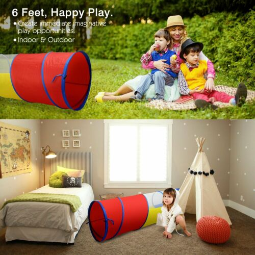 Kids Animal Pop Up Crawl  Tunnel Tube Play Tent Toy Indoors//outdoors Garden Game