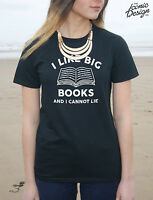 * I Like Big Books And I Cannot Lie T-Shirt Top Funny Slogan Music Gift Can Not*