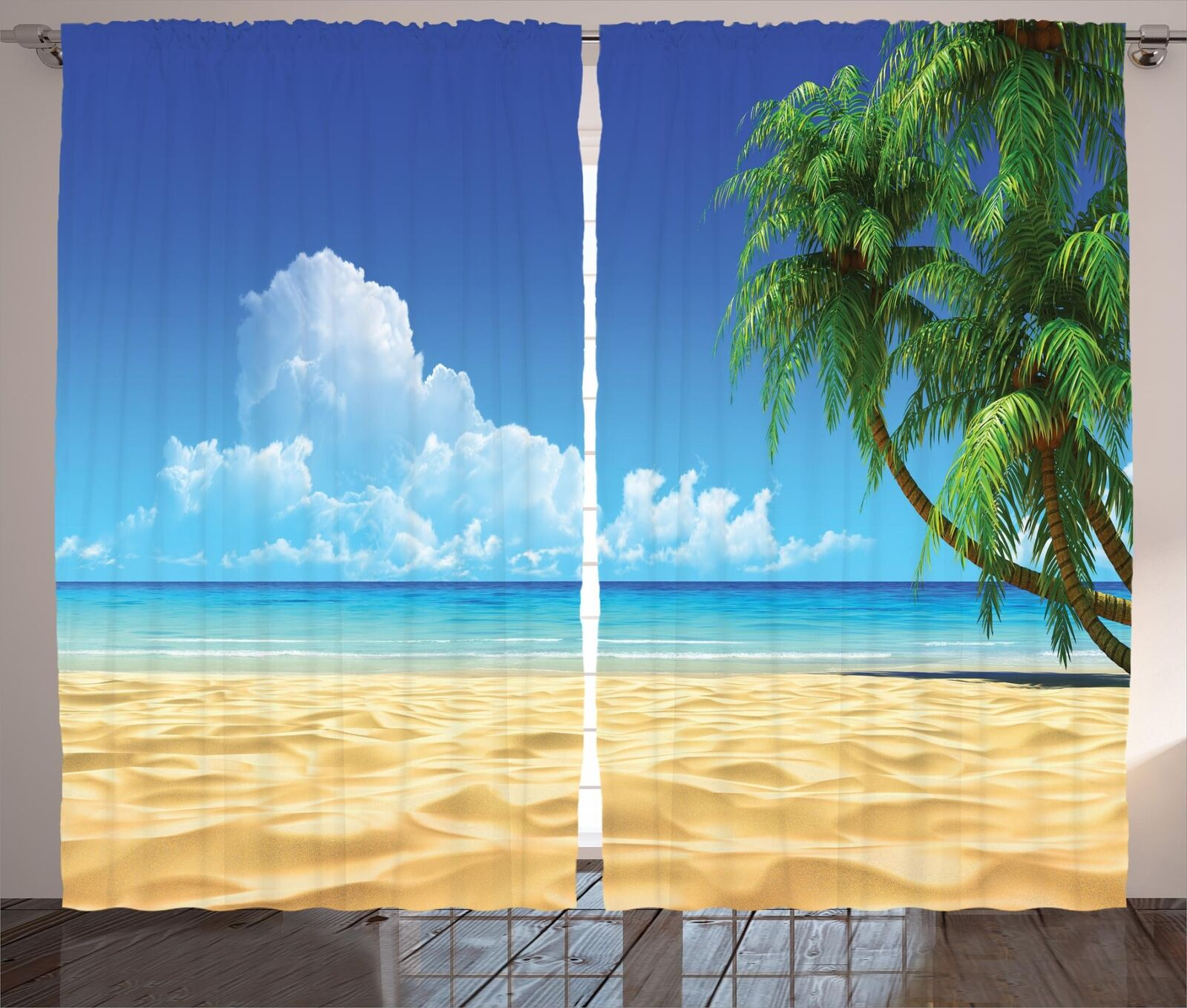 Palm Beach Curtains 2 Panel Set Decor 5 Größes Available Window Drapes