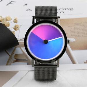 Fashion-Turntable-Stainless-Steel-Band-Men-Women-Quartz-Wrist-Watch-Bracelet